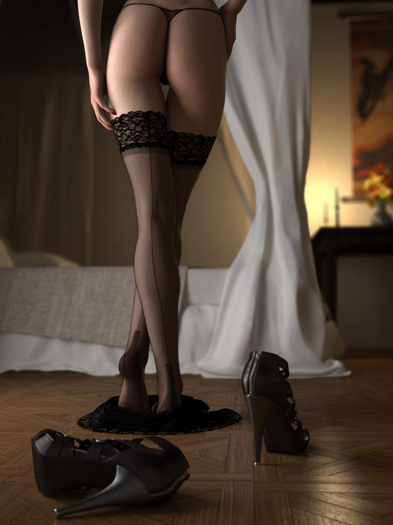 Фото стройных ног в чулках 18 фотография