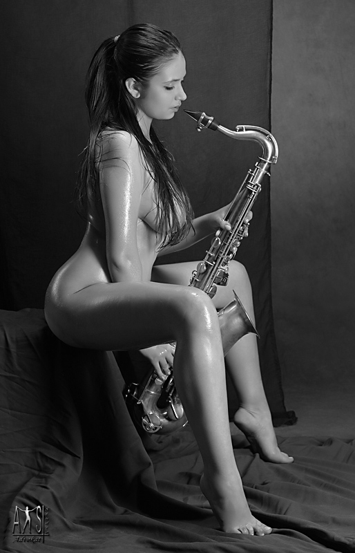 Naked women with instruments — 6